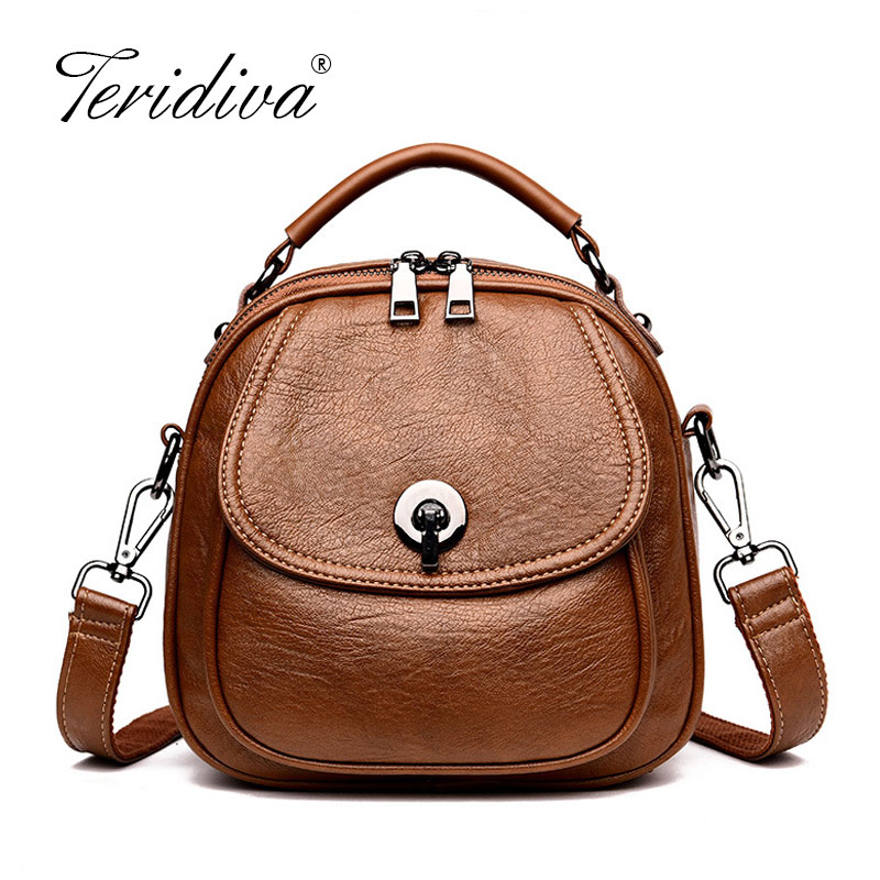 Women's Leather Handbag Female Lovely Small Crossbody Casual Shoulder Bags For Women Simple Messenger Purse Mochilas Mujer
