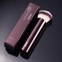 1 peça angular fundação pincéis de maquiagem fundação líquida compõem pincel requintado profissional ferramenta cosmética alça de metal