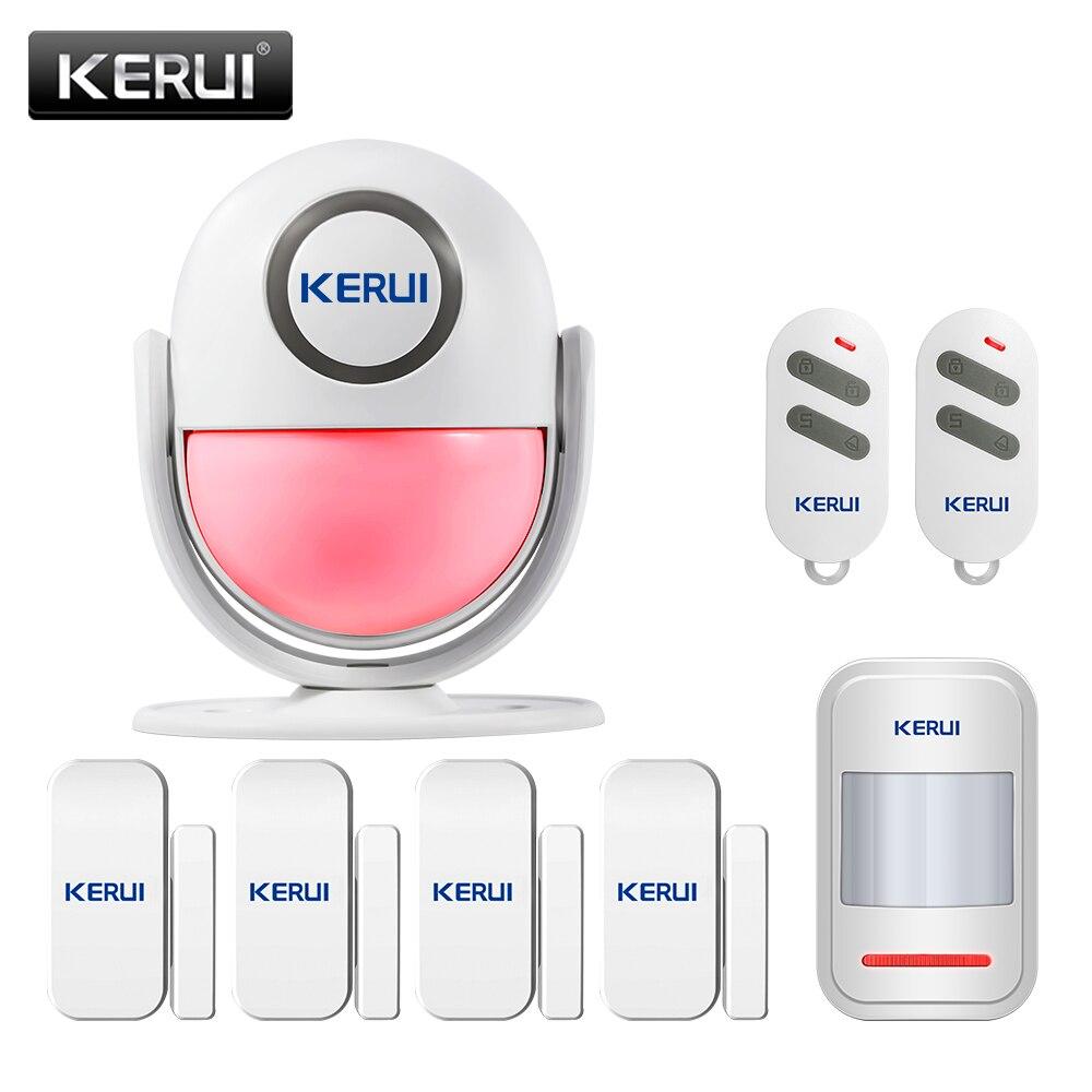 Doorbell SOS Alarm Systems KERUI WP6 PIR Motion Alarm Door Bell Home Security Burglar Sensor Detector All In One Alarm Machine