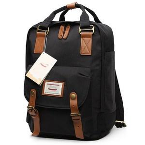 Image 2 - Japanischen und Korea Rucksack Frauen Große Kapazität Schule Rucksack Leinwand Rucksack Für Mädchen Mode Vintage Laptop Reisetaschen