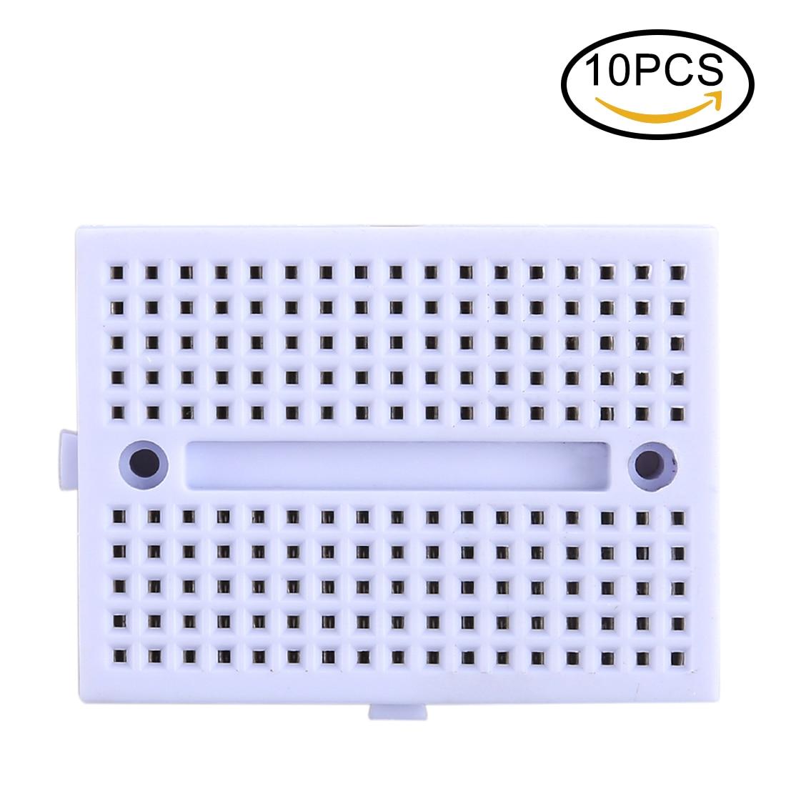 10PCS 170 Points Mini Solderless Breadboard For Arduino - White