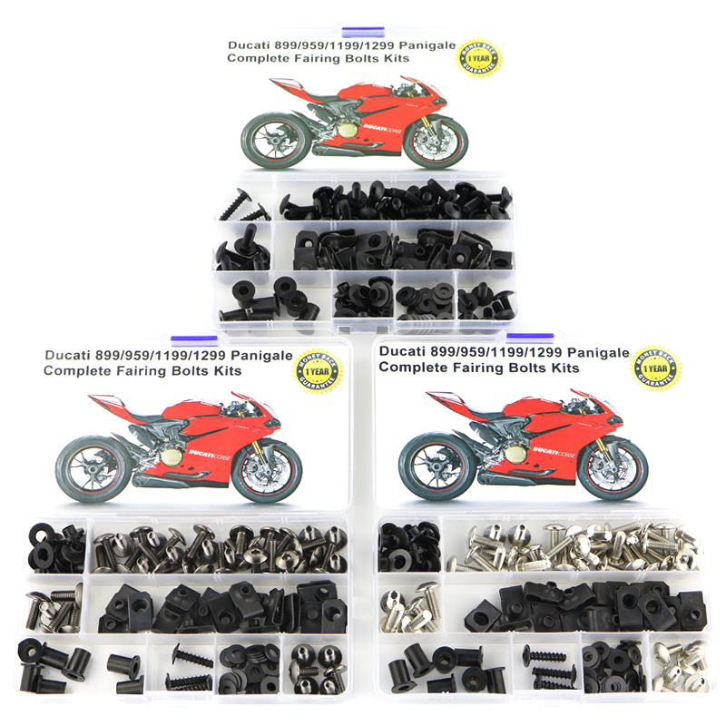 For Ducati 899 959 1199 1299 Panigale Motorcycle Coling Full Fairing Bolts Kit With  Washer Speed Nuts Screws Steel