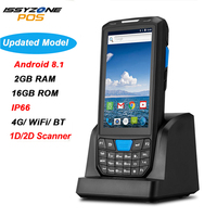 ISSYZONEPOS Handheld Pos Terminal Android 8.1PDA 1D 2D Honeywell Barcode Scanner 4G NFC Barcodes Reader Portable Data collector