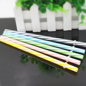 1pc Mix Color Striped Straw With Ring Plastic Threaded Mug Tool Colorful Straws Grade Pp Reusable Drink Food Straws Hard Bu K1A5