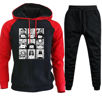 2019 Autumn Winter Mens Sets Hoodies Pants Sportswear Jason Voorhees Freitag der 13th Maske Hooded Sweatshirts Set Men Sweatpant 1