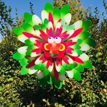 Wind Wind Spinner Three Layers Sunflower Outdoor Garden Decoration Windmill Pinwheel Kids Children Toys Cartoon Gifts Funny