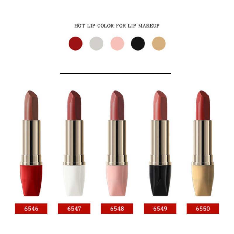 สวยเคลือบ 5 สีMatteลิปสติกWaterproofลิปสติกลิปสติกลิปสติกลิปสติกNudeกำมะหยี่สีBatomแฟชั่นLip Makeupผู้หญิง