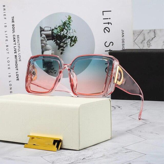 2021 Fashion Sunglass Designer Luxury Brand Square Sunglasses Women Vintage Eyewear Female Trend Sun Glasses Male Shades Oculos 1