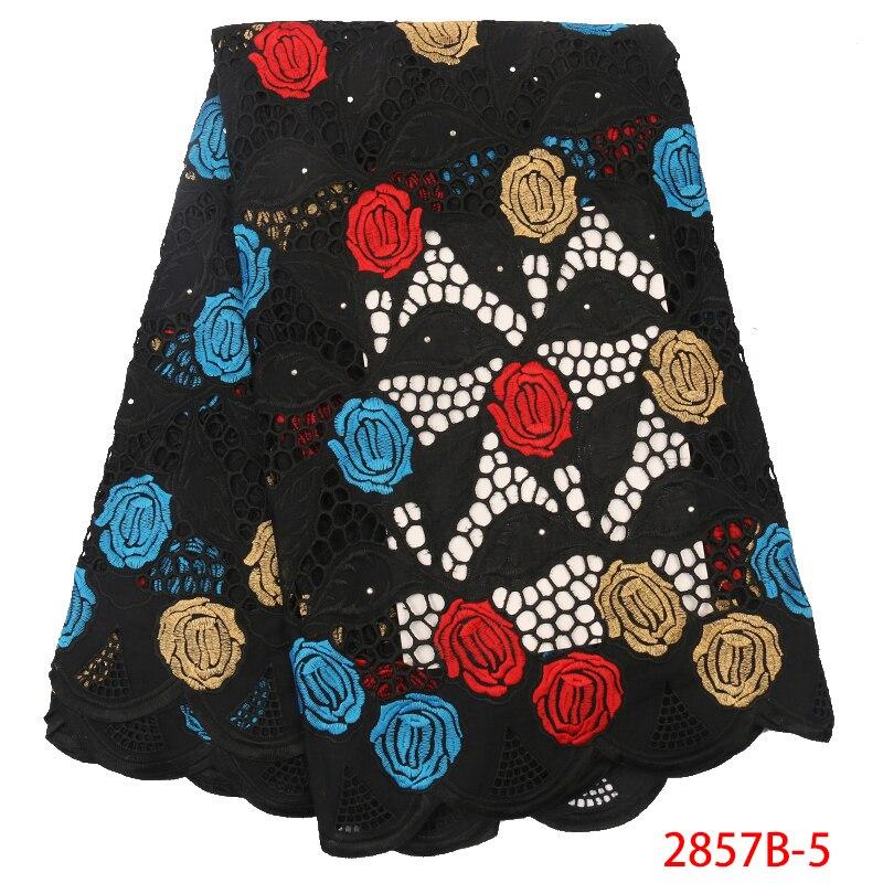 Soft African Swiss Cotton Lace Fabric High Quality Cotton Dry Lace Fabric Embroidery African Nigerian Women Dress YA2857B-5