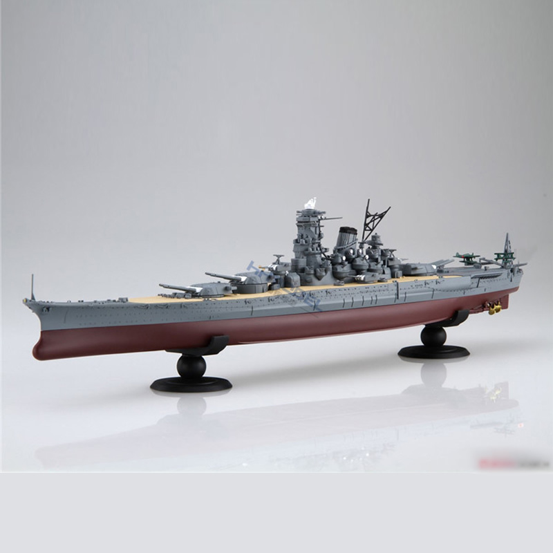 2 Styles Japanese Battleship Musashi Yamato 1/700 Scale Pre Coloring Assembly Ship Model Building Kits