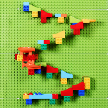 Children DIY Building Blocks Wall Marble Race Run Compatible LogoINGly Duploed Base Plate Funnel Slide Baseplate Toy