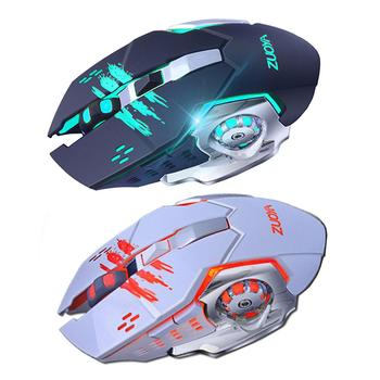 2020 New Silent Gaming Wireless Mouse 2.4GHz 2000DPI Rechargeable Wireless Mice USB Optical Game Backlight Mouse For PC Laptop vmw 138 2 4g wireless 2000dpi laser mouse white grey 2 x aaa