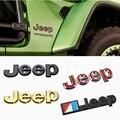 Для Jeep Wrangler tj jk jl Grand Cherokee Commander Renegade Liberty Compass Patriot передний багажник боковой сплав модификация эмблемы
