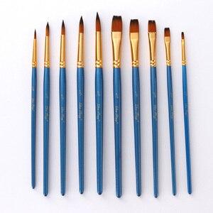 5Pcs Paint Brushes Set Nylon Painting Brush Short Rod Oil Acrylic Brush Watercolor Pen High Quality Professional Art Supplies