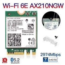 Dual Band Intel AX210 Drahtlose AX210NGW 2,4 Gbps 802,11 AX Drahtlose Wi-Fi 6 AX200 Für Intel 8265NGW/9260AC M.2 NGFF Wlan WiFi Karte