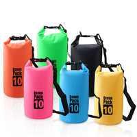 2L 3L 5L Swimming PVC Waterproof Bags Outdoor Dry Bag Water Resistant Swimming Bag Upstream Pouch for Kayak Rafting