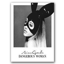 Ariana Grande niebezpieczna kobieta plakat ścienny artystyczny obraz ścienny jedwab lub płótno malarskie Home Decor