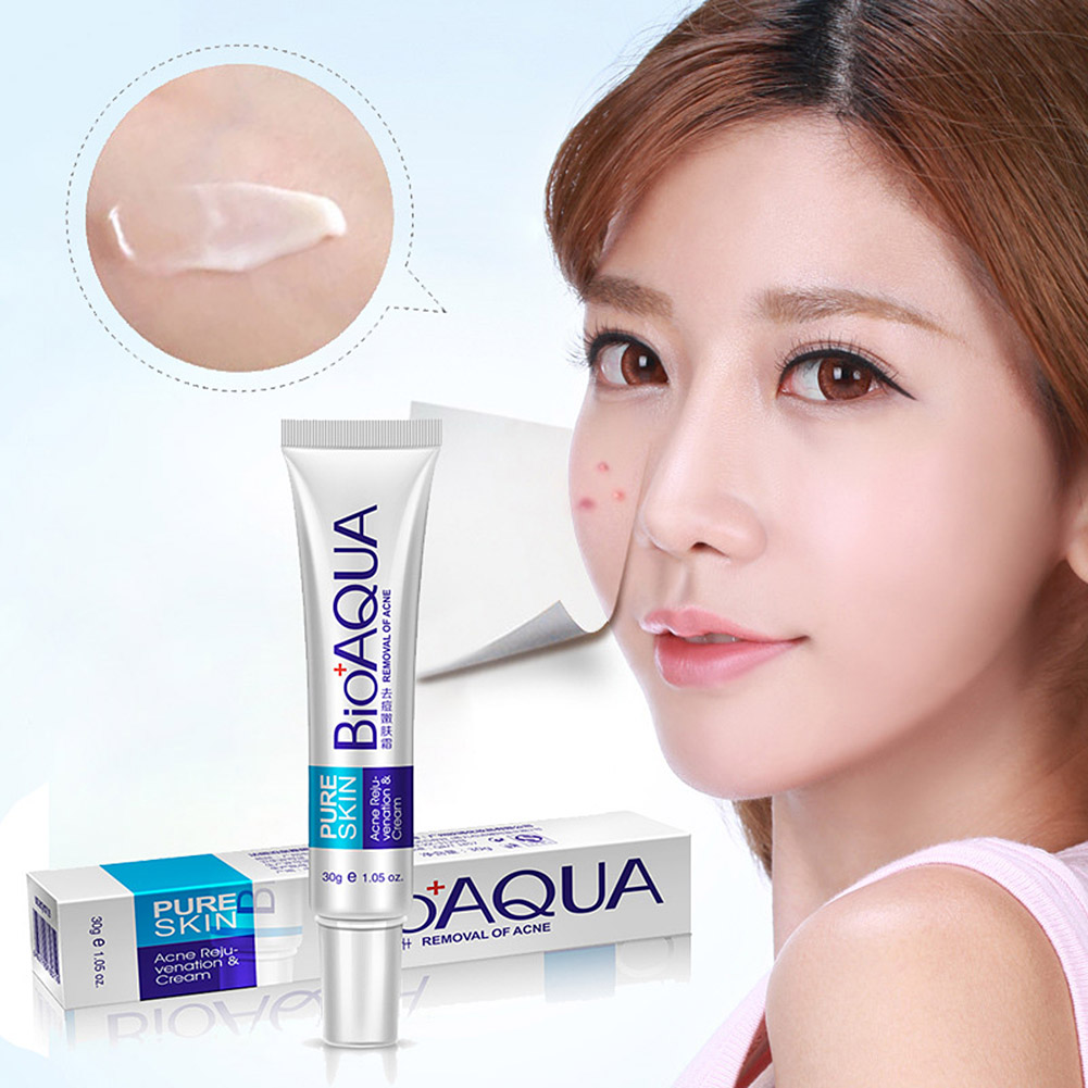 New Hot Bioaqua 30g Anti Acne Cream Oil Control Shrink Pore Acnes Scar Remove Face Care SMR88 2