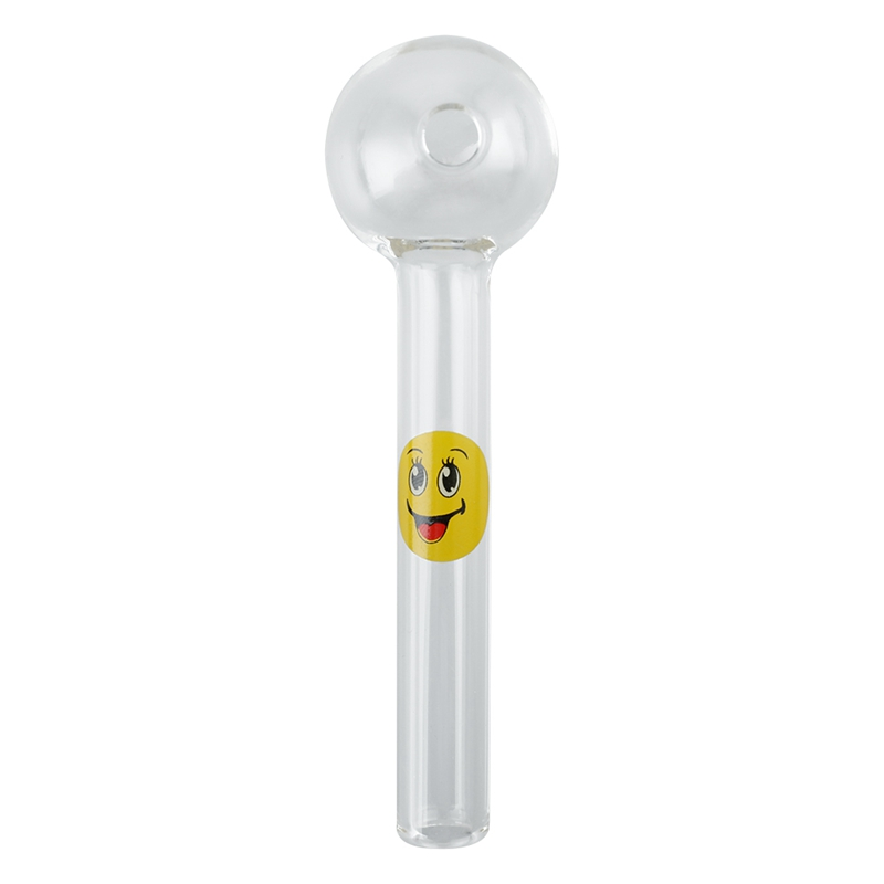 Smile Face Expression Glass Oil Burner Pipe Pyrex Oil Burner Pipe Smoking Accessories