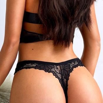 Women Seamless Lace Thong Underwear INTIMATES Panties