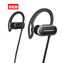 Arikasen 8GB MP3 reproductor bluetooth auricular IPX6 impermeable inalámbrico bluetooth MP3 auriculares con micrófono bluetooth auriculares(China)