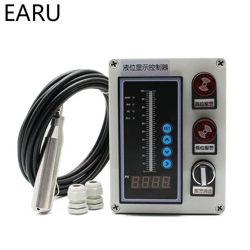 1 ensemble 4-20MA sortie huile liquide intégrale capteur de niveau d'eau transmetteur détecter contrôleur flotteur interrupteur étanche montage boîte pompe