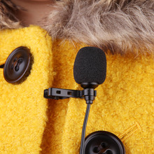 Lavalier Clip Metal Mono Microphone 3.5mm with Collar Clip for Lound Speaker Computer