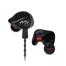 KZ ZS3 אוזניות 1DD דינמי בצגי אוזן רעש ביטול HiFi מוסיקה ספורט אוזניות עם מיקרופון עבור טלפונים משחק אוזניות