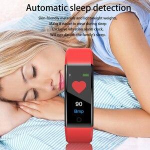 Image 4 - Akıllı bilek bandı spor nabız monitörü kan basıncı pedometre sağlık koşu spor akıllı saat erkekler kadınlar için IOS Android