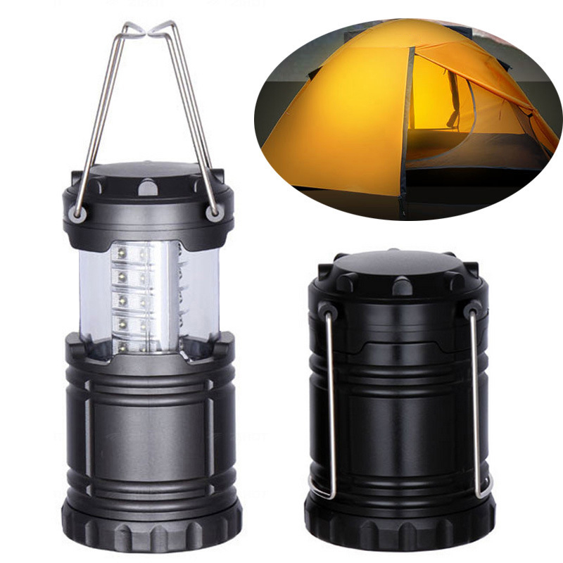 1PC Portable Camping Lights Lantern Lightweight Hanging Tent Light Led Light Outdoor LED Flashlight Lamp For Fishing Camping