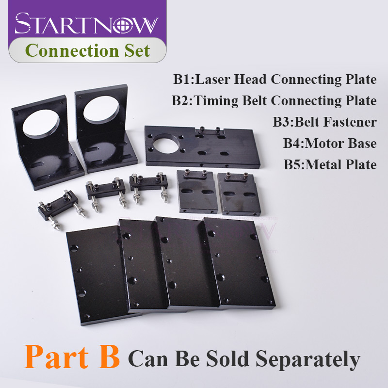 57 Stepper Motor Base Belt Fastener Metal Connecting Plate Co2 Laser Mechanical Components For CNC Co2 Engraving Cutting Machine