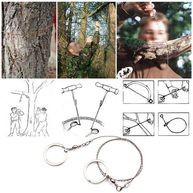 Portable Stainless Steel Wire Saw Outdoor Survival Self Defense Camping Hiking Hunting Chainsaws Hand Saw Fret Saw Tools 2