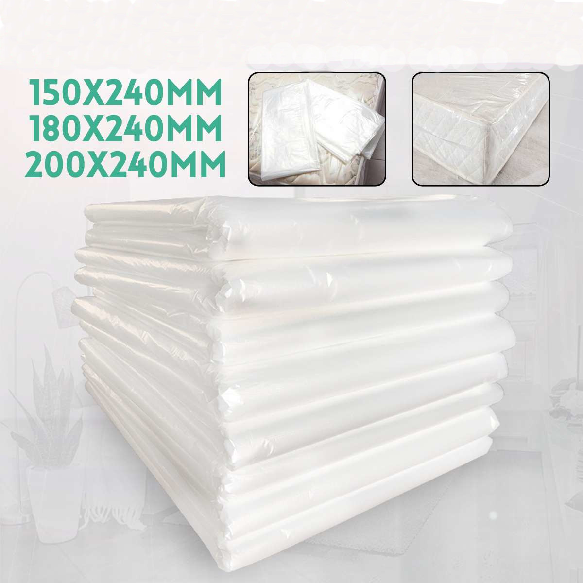 Мешок для хранения матраса защитный чехол для матраса, влагостойкий прозрачный пылезащитный чехол для хранения в домашних условиях
