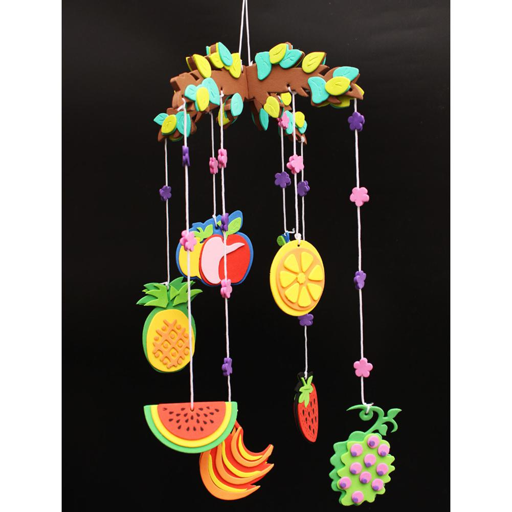 None 1Pc DIY Campanula Wind Chime Set Kids Wall Hanging Curtain Decoration Arts Crafts Pendant Toys
