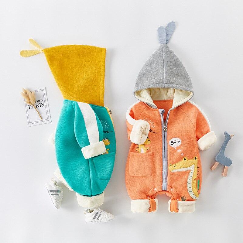 2021  Autumn Winter coat Jumpsuit Baby clothing Newborn Snowsuit Boy Warm Romper Down Cotton Jackets Girl Snow clothes Bodysuit