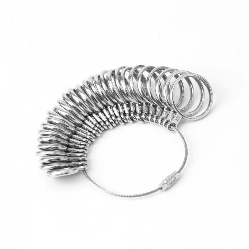 EU/JP/KR/UK Useful Standard Jewelry Measuring Tool Rings Size Metal Finger Ring Sizer Measure Gauge