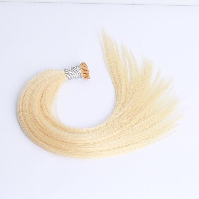 Blonde Bundles Straight I Tip Hair Extensions For Women Microlinks Human Hair Bundles 613 Hair Weave Bulk Clip Ins Brazilian Rem
