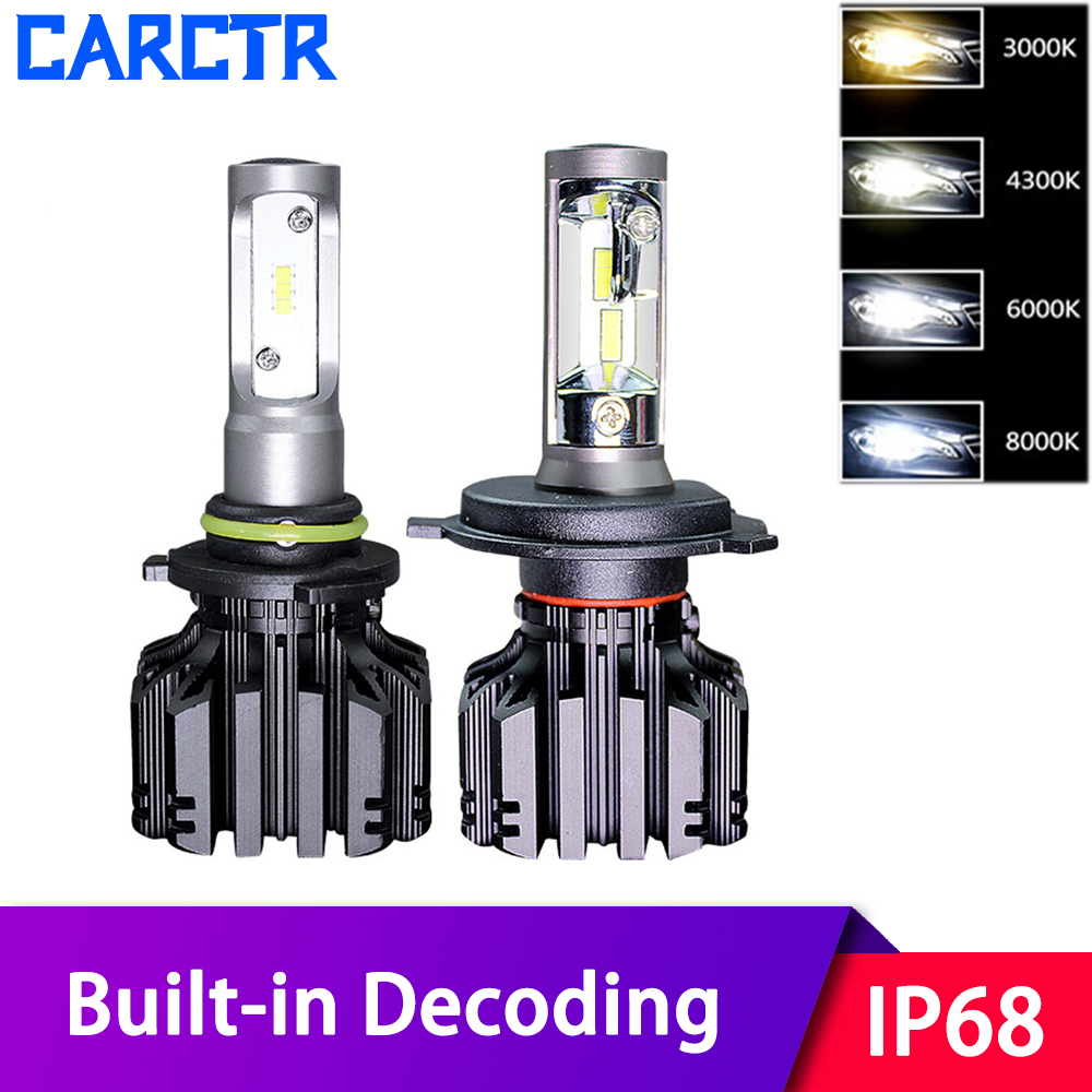 LED Car Headlights Universal 9004/5/6/7 9012 H1 H3 H7 LED Lamp H4 H11/16 PX24 H13 36W 3000/4300/6000/8000K Aluminum Car Lights