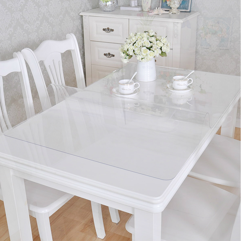 Brand PVC Tablecloth Tablecloth Transparent Tablecloth Cover Waterproof Kitchen Pattern Oil Tablecloth Glass Soft Cloth 1.0mm