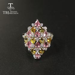 TBJ 2020 Natural Tourmaline ring natural gemstone  925 sterling silver fine jewelry for women