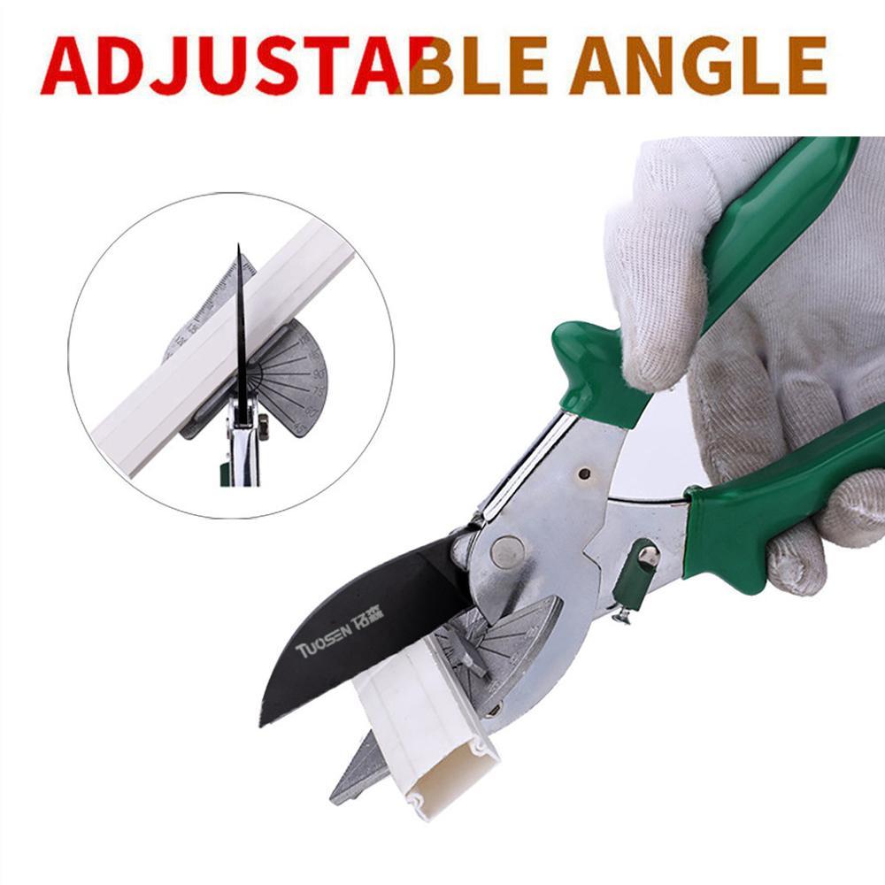 TUOSEN 90 degree woodworking angle shear Metallic Multi-function Tube Pipe Plastic Handyman Easy Shears Multi-Angle Anvil Window