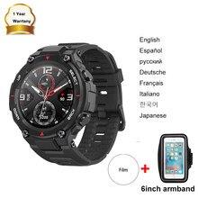 Amazfit t rex Т t-rex Smartwatch Huami spor izle sağlam vücut GPS/GLONASS AMOLED ekran Bluetooth akıllı saat aktivite izci