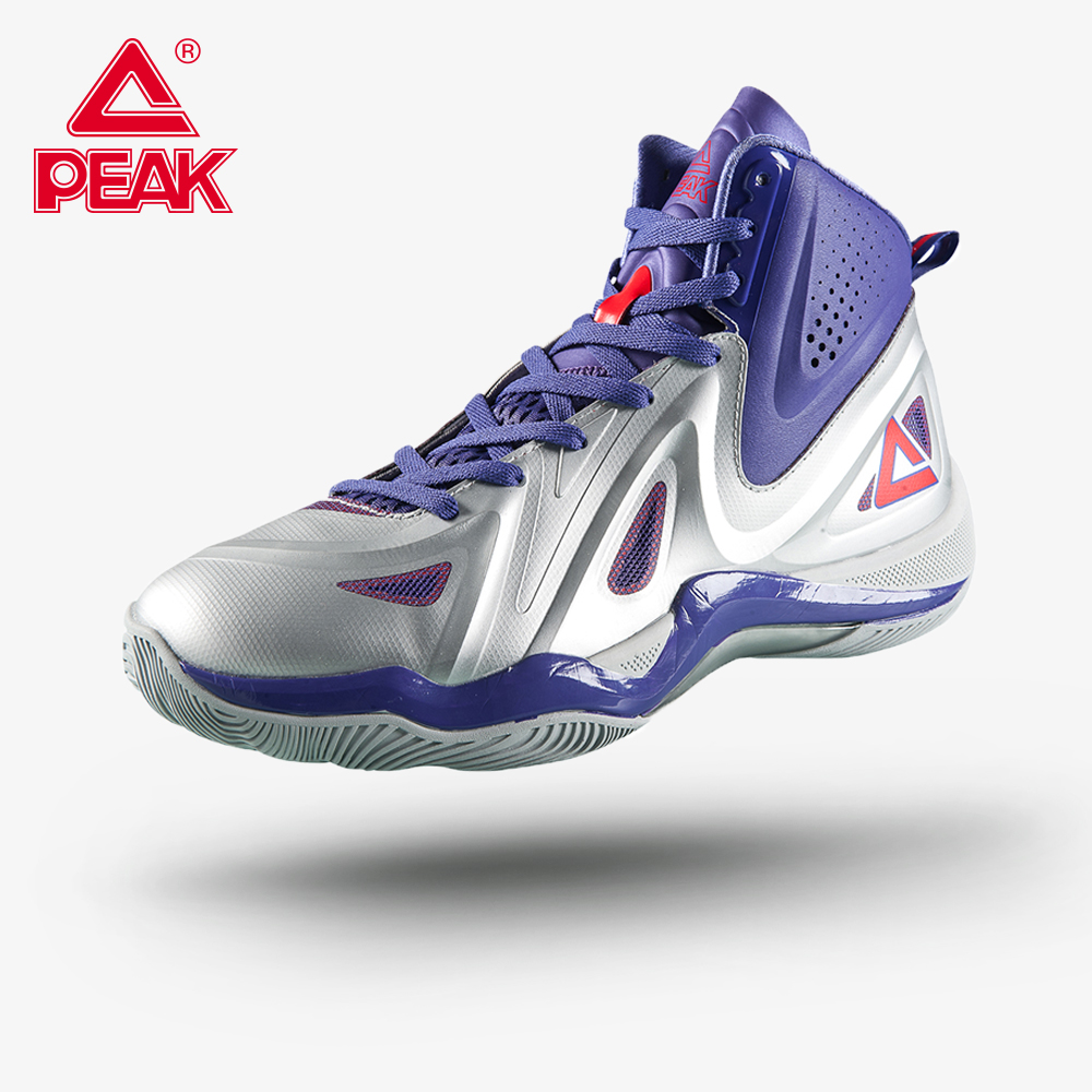 PEAK <font><b>Men's</b></font> <font><b>Basketball</b></font> Shoes Outdoor Anti-slip Professional Cushion <font><b>Basketball</b></font> <font><b>Sneakers</b></font> High Cut Safety Great Wearable Footwear image