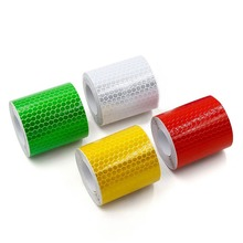 5cm*3m Safety Mark Reflective Tape Stickers Car-styling Self Adhesive Warning Tape Automobiles Motorcycle Reflective Film.