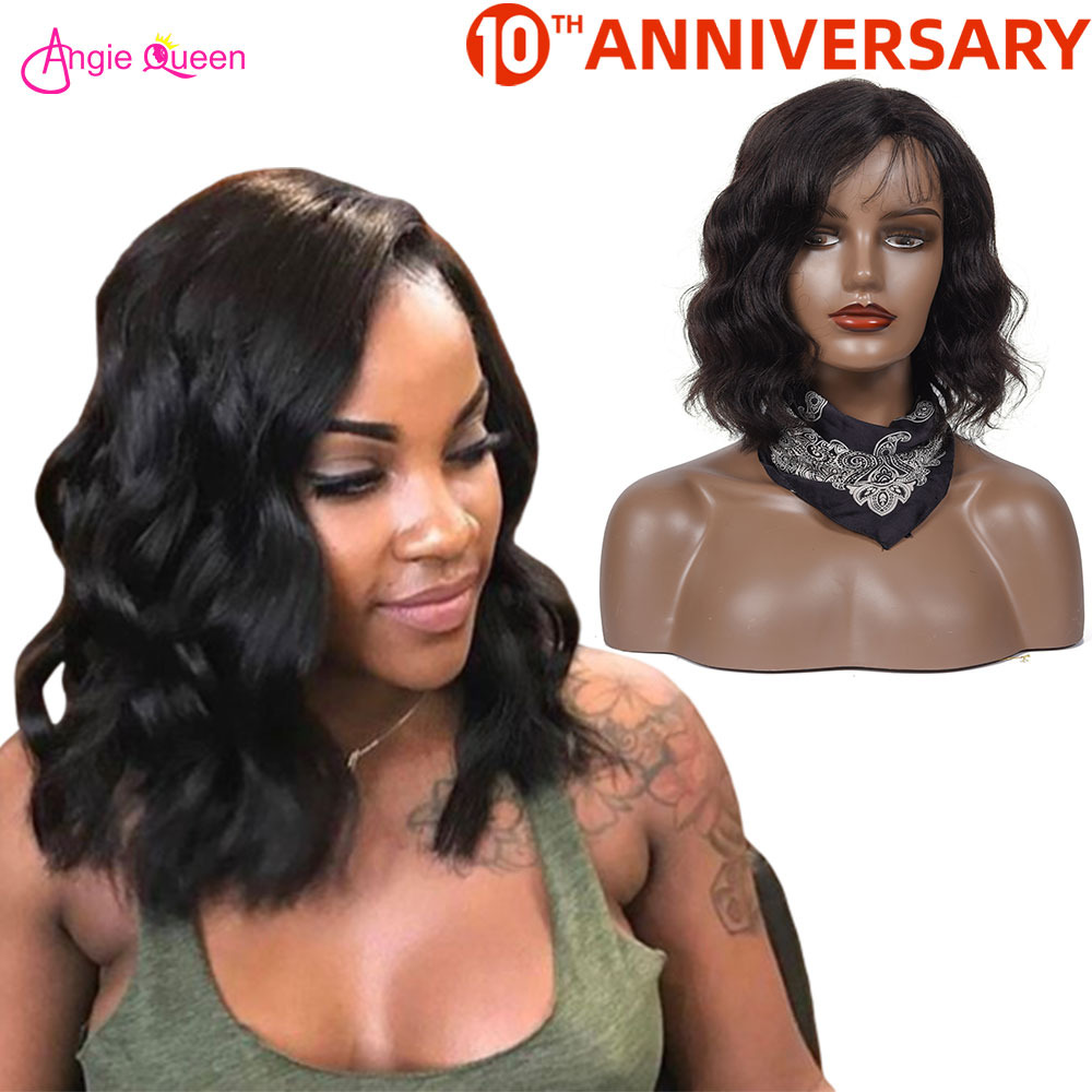 Body Wave Human Hair Wigs Brazilian Hair Wigs Bob Wigs For Black Women With Baby Hair Remy Hair Wig Full Machine Wig Closure Wig
