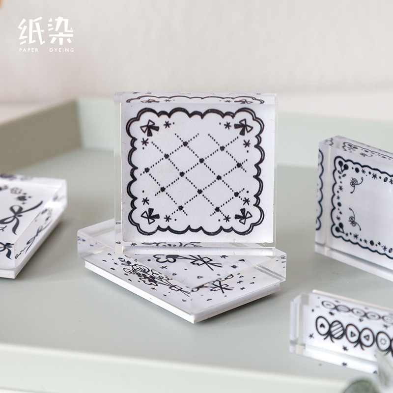Vintage Plant Moon Butterfly Stamp DIY Acrylic Rubber Stamps For Stationery Scrapbooking Transparent Stamps