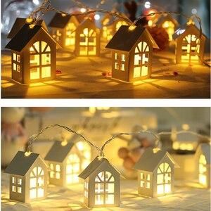 Светодиодный светильник для украшения рождественской елки, 2 м, 10 батарей