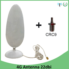 3G 4G LTE Antenna SMA Male 2.8m 3G External Antena 22dBi Antenne for 4G Modem Router +Adapter SMA Female to CRC9 Male Connector 5pcs 3g 4g lte antenna sma male crc9 connector 22dbi 2 8m cable antena for lte repeater 1 crc9 connector for 4g modem router