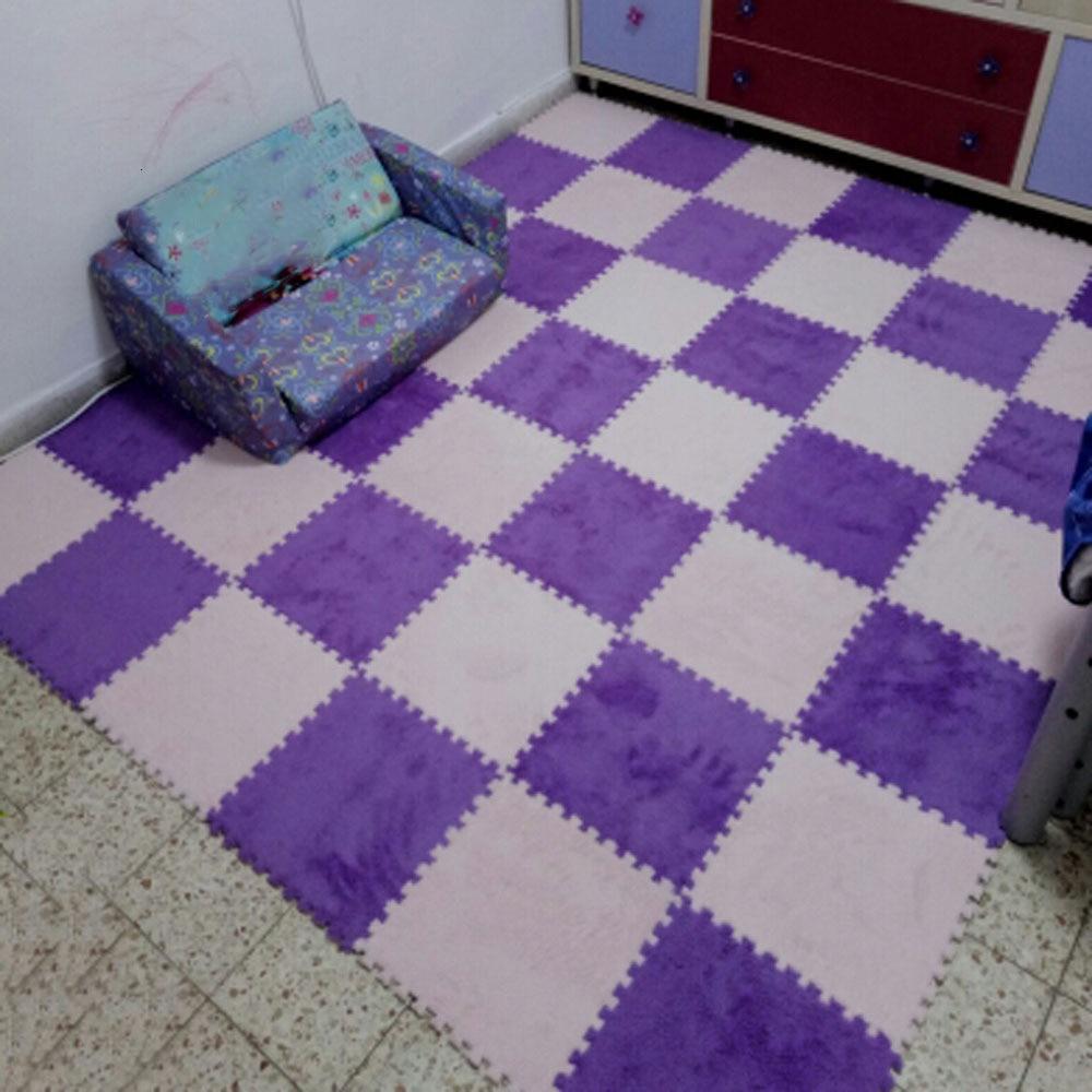 10 Pcs/Lot Soft Plush Children's Rug Baby Play Mat Toys Eva Foam Kids Rug Puzzle Children's Mat Interlock Floor Playmat 30*30 CM