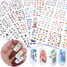 84 pcs Mixed Design Nail Art Stickers Set Water Transfer Decals Slider For Nails Art Decor Manicure Adhesive Tips SABN1129 1212